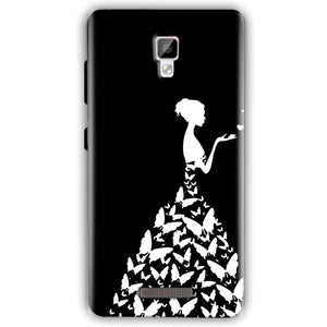 Gionee P7 Mobile Covers Cases Butterfly black girl - Lowest Price - Paybydaddy.com
