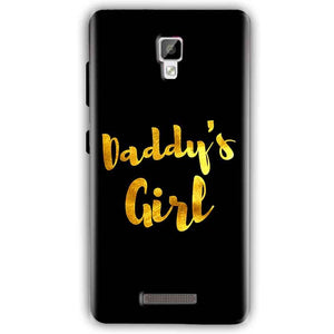 Gionee P7 Mobile Covers Cases Daddys girl - Lowest Price - Paybydaddy.com