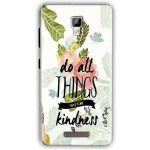 Gionee P7 Mobile Covers Cases Do all things with kindness - Lowest Price - Paybydaddy.com