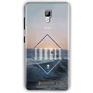 Gionee P7 Mobile Covers Cases Forget Quote Something Different - Lowest Price - Paybydaddy.com