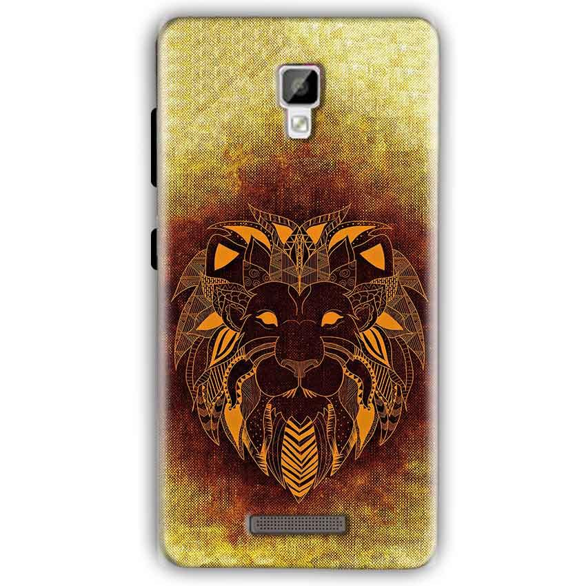 Gionee P7 Mobile Covers Cases Lion face art - Lowest Price - Paybydaddy.com