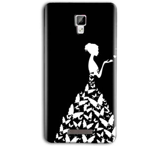 Gionee P7 Max Mobile Covers Cases Butterfly black girl - Lowest Price - Paybydaddy.com