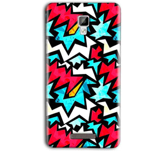 Gionee P7 Max Mobile Covers Cases Colored Design Pattern - Lowest Price - Paybydaddy.com