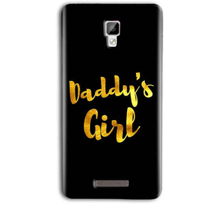 Gionee P7 Max Mobile Covers Cases Daddys girl - Lowest Price - Paybydaddy.com