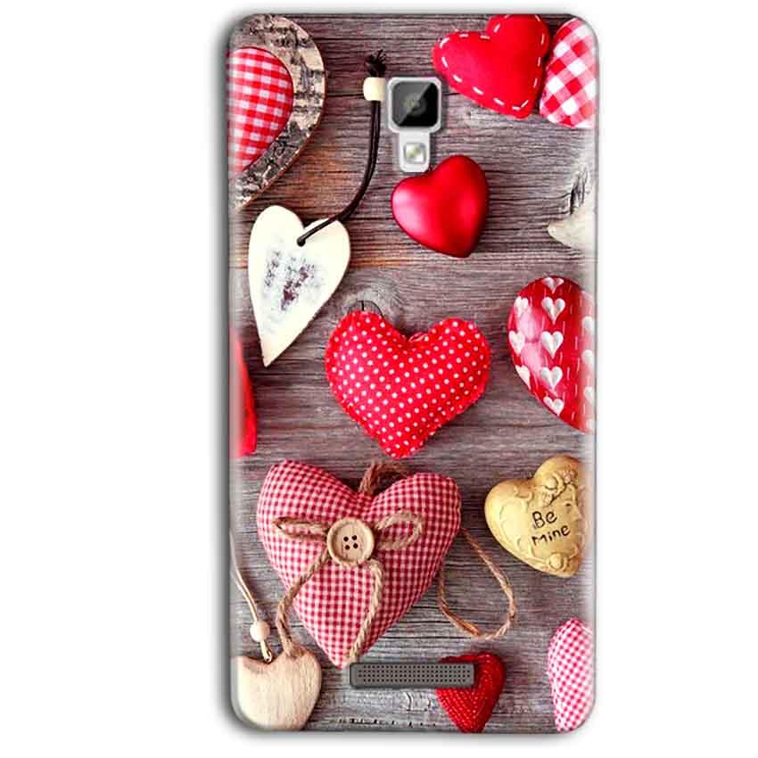 Gionee P7 Max Mobile Covers Cases Hearts- Lowest Price - Paybydaddy.com