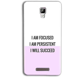 Gionee P7 Max Mobile Covers Cases I am Focused - Lowest Price - Paybydaddy.com
