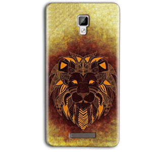 Gionee P7 Max Mobile Covers Cases Lion face art - Lowest Price - Paybydaddy.com