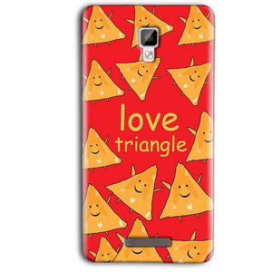 Gionee P7 Max Mobile Covers Cases Love Triangle - Lowest Price - Paybydaddy.com