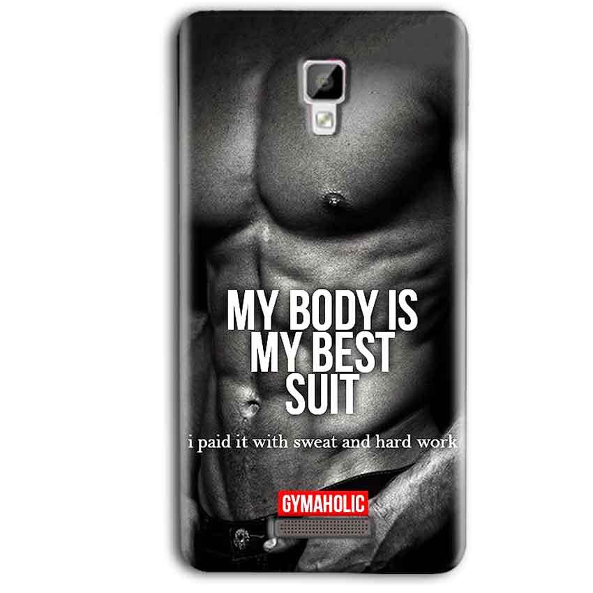 Gionee P7 Max Mobile Covers Cases My Body is my best suit - Lowest Price - Paybydaddy.com