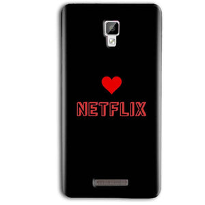 Gionee P7 Max Mobile Covers Cases NETFLIX WITH HEART - Lowest Price - Paybydaddy.com