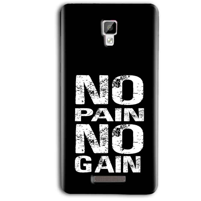 Gionee P7 Max Mobile Covers Cases No Pain No Gain Black And White - Lowest Price - Paybydaddy.com