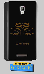 Gionee P7 Max Mobile Covers Cases Om Namaha Gold Black - Lowest Price - Paybydaddy.com