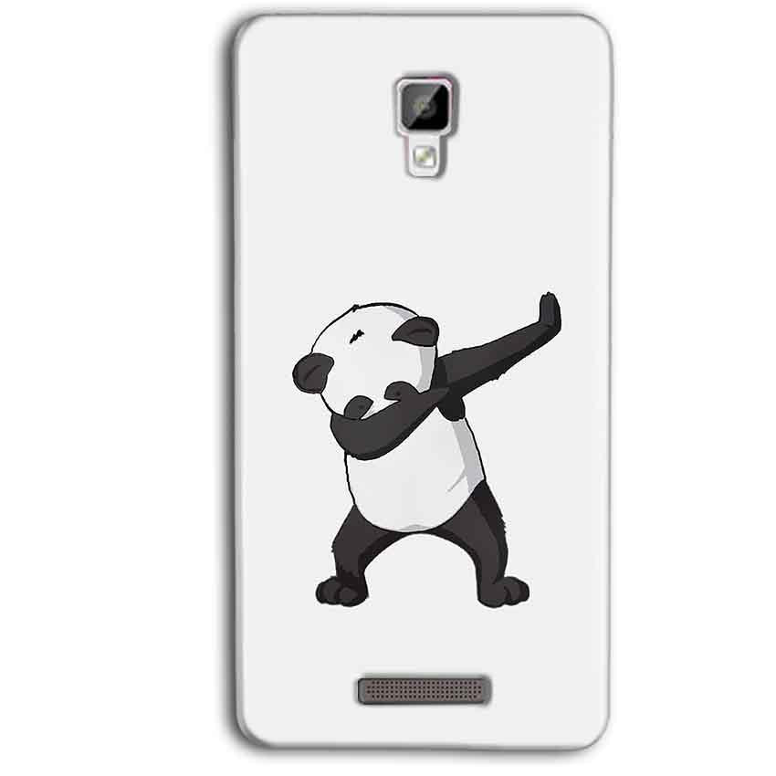 Gionee P7 Max Mobile Covers Cases Panda Dab - Lowest Price - Paybydaddy.com