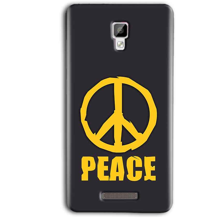 Gionee P7 Max Mobile Covers Cases Peace Blue Yellow - Lowest Price - Paybydaddy.com
