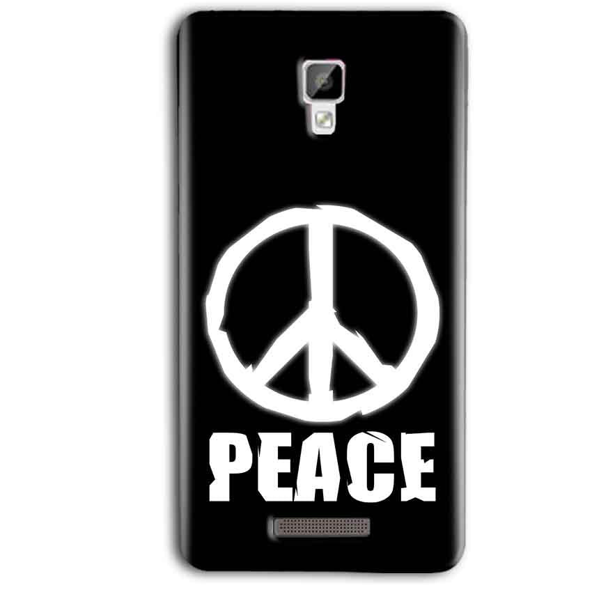 Gionee P7 Max Mobile Covers Cases Peace Sign In White - Lowest Price - Paybydaddy.com