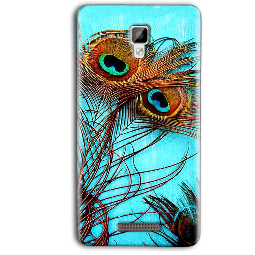 official photos c302d cfdcd Gionee P7 Max Peacock blue wings Back Cover