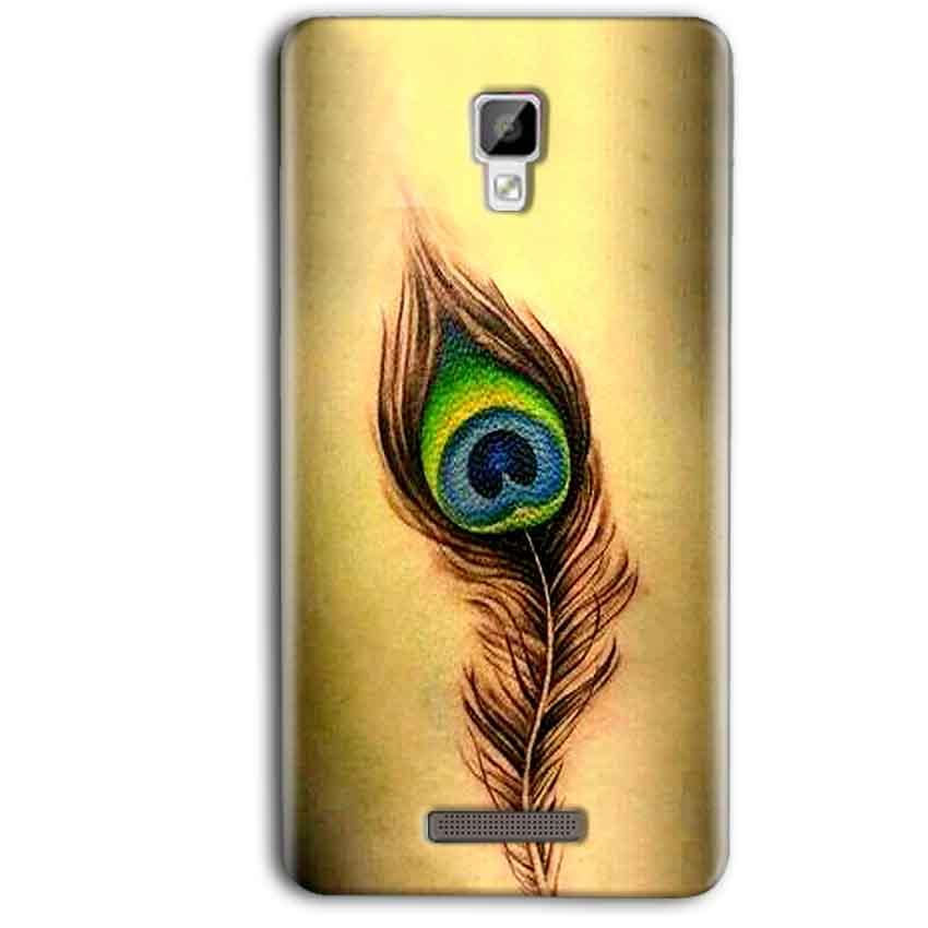 Gionee P7 Max Mobile Covers Cases Peacock coloured art - Lowest Price - Paybydaddy.com