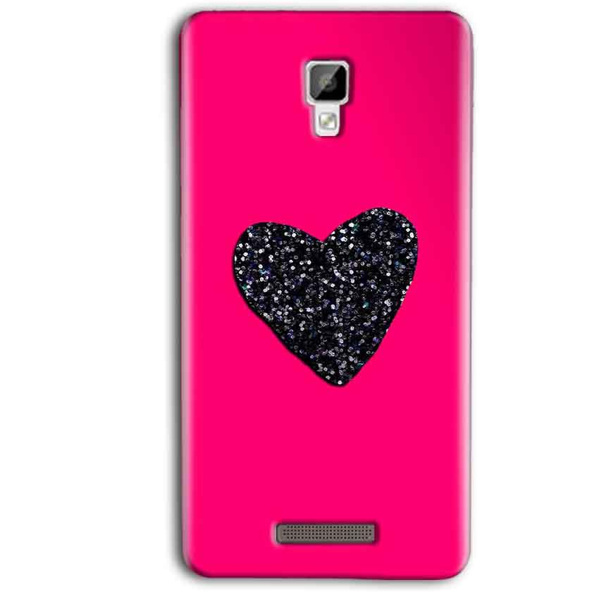 the best attitude d856c 97366 Gionee P7 Max Pink Glitter Heart Back Cover
