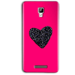 Gionee P7 Max Mobile Covers Cases Pink Glitter Heart - Lowest Price - Paybydaddy.com