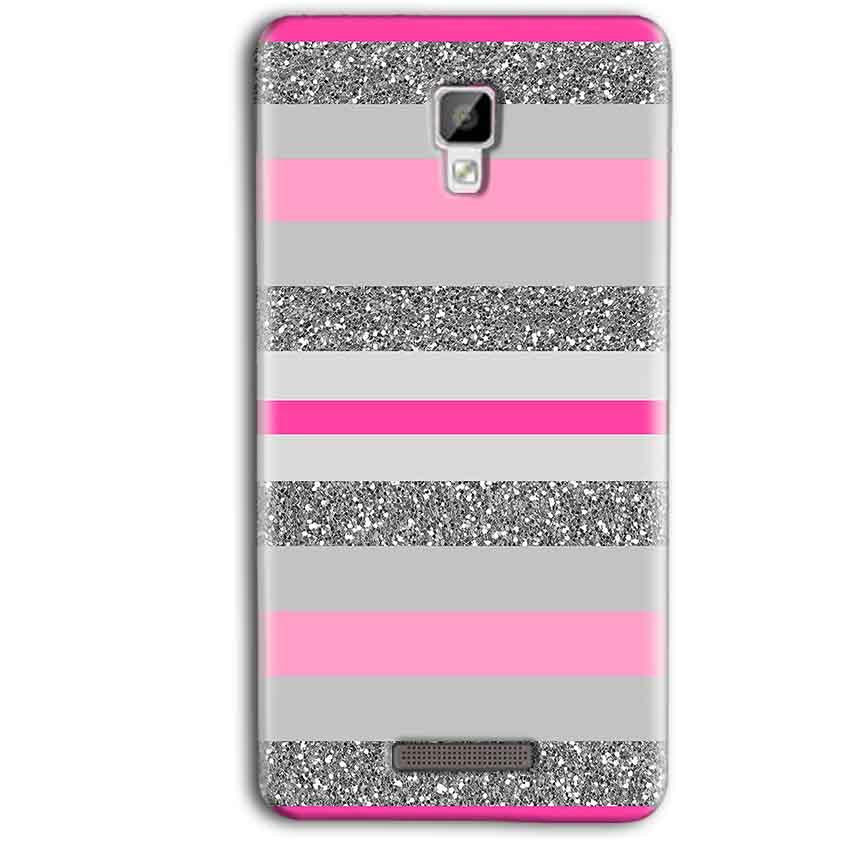 Gionee P7 Max Mobile Covers Cases Pink colour pattern - Lowest Price - Paybydaddy.com