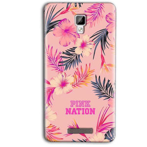 Gionee P7 Max Mobile Covers Cases Pink nation - Lowest Price - Paybydaddy.com