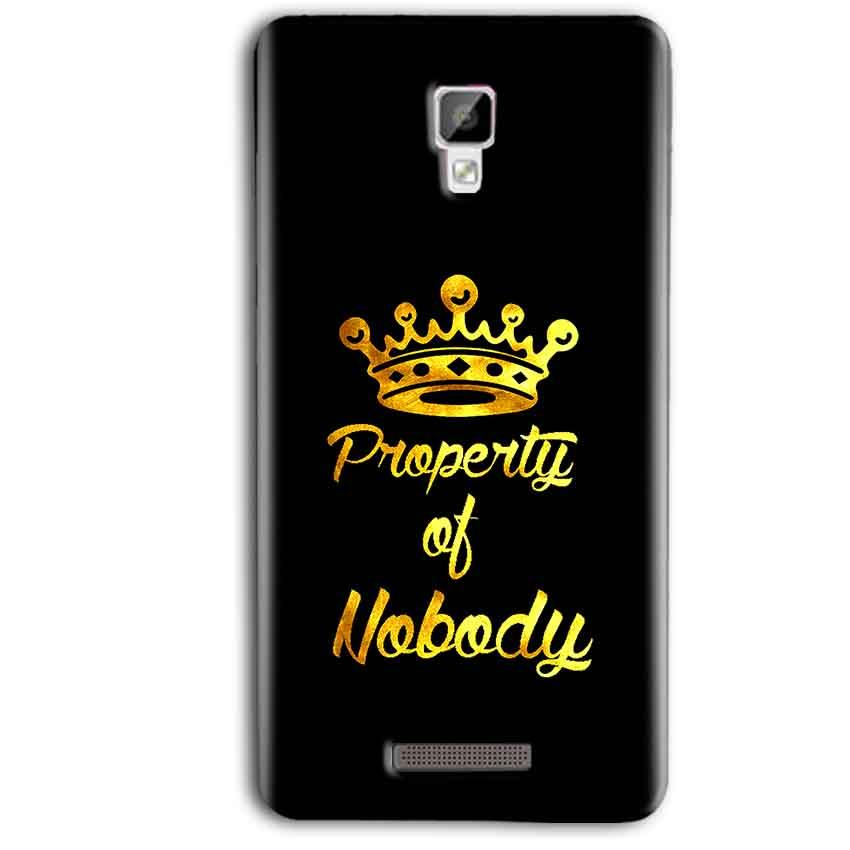 Gionee P7 Max Mobile Covers Cases Property of nobody with Crown - Lowest Price - Paybydaddy.com