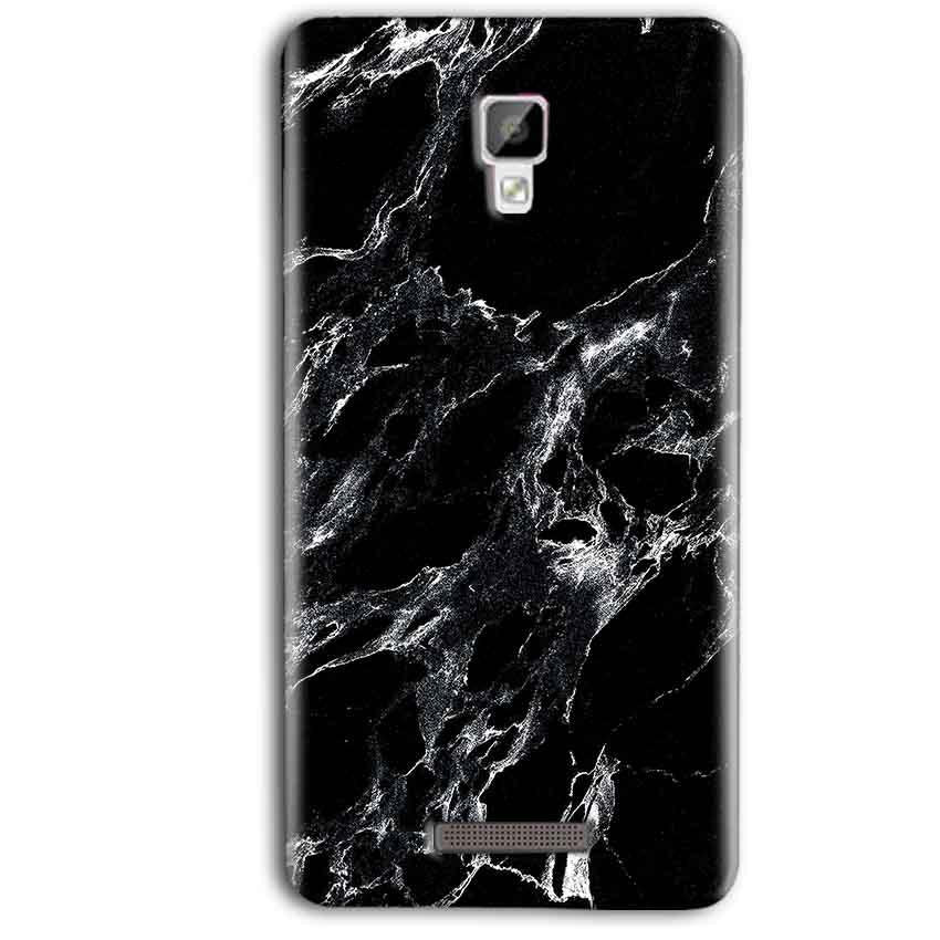 Gionee P7 Max Mobile Covers Cases Pure Black Marble Texture - Lowest Price - Paybydaddy.com