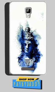 Gionee P7 Max Mobile Covers Cases Shiva Blue White - Lowest Price - Paybydaddy.com