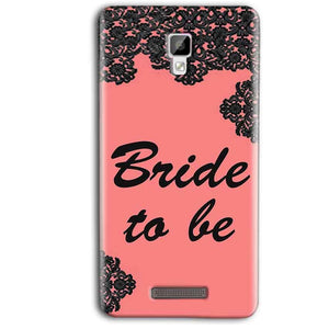 Gionee P7 Max Mobile Covers Cases Mobile Covers Cases bride to be with ring Black Pink - Lowest Price - Paybydaddy.com