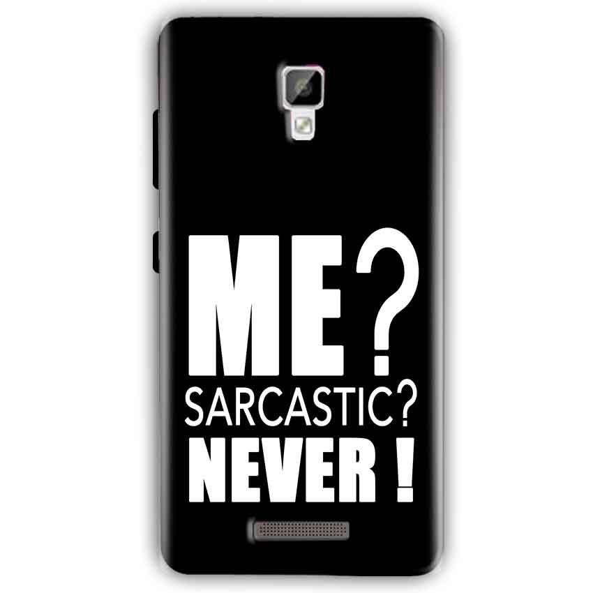 Gionee P7 Mobile Covers Cases Me sarcastic - Lowest Price - Paybydaddy.com