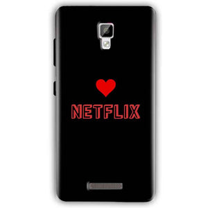 Gionee P7 Mobile Covers Cases NETFLIX WITH HEART - Lowest Price - Paybydaddy.com