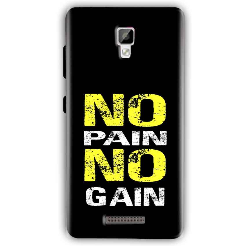 Gionee P7 Mobile Covers Cases No Pain No Gain Yellow Black - Lowest Price - Paybydaddy.com