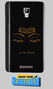 Gionee P7 Mobile Covers Cases Om Namaha Gold Black - Lowest Price - Paybydaddy.com