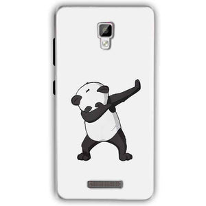 Gionee P7 Mobile Covers Cases Panda Dab - Lowest Price - Paybydaddy.com