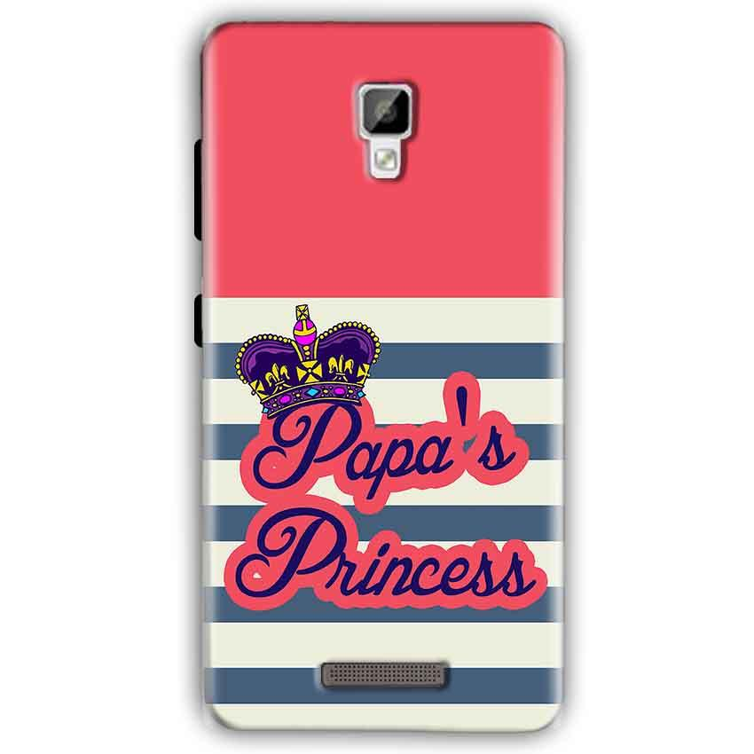 Gionee P7 Mobile Covers Cases Papas Princess - Lowest Price - Paybydaddy.com