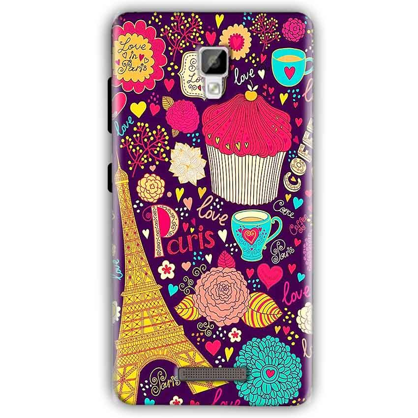 Gionee P7 Mobile Covers Cases Paris Sweet love - Lowest Price - Paybydaddy.com