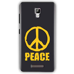 Gionee P7 Mobile Covers Cases Peace Blue Yellow - Lowest Price - Paybydaddy.com