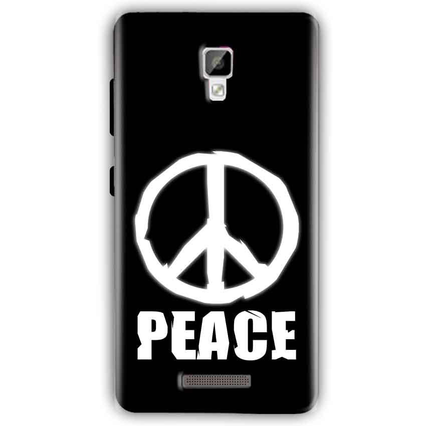 Gionee P7 Mobile Covers Cases Peace Sign In White - Lowest Price - Paybydaddy.com