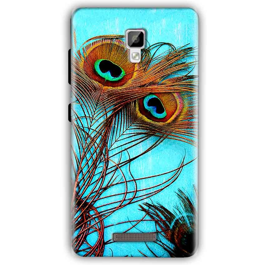 Gionee P7 Mobile Covers Cases Peacock blue wings - Lowest Price - Paybydaddy.com