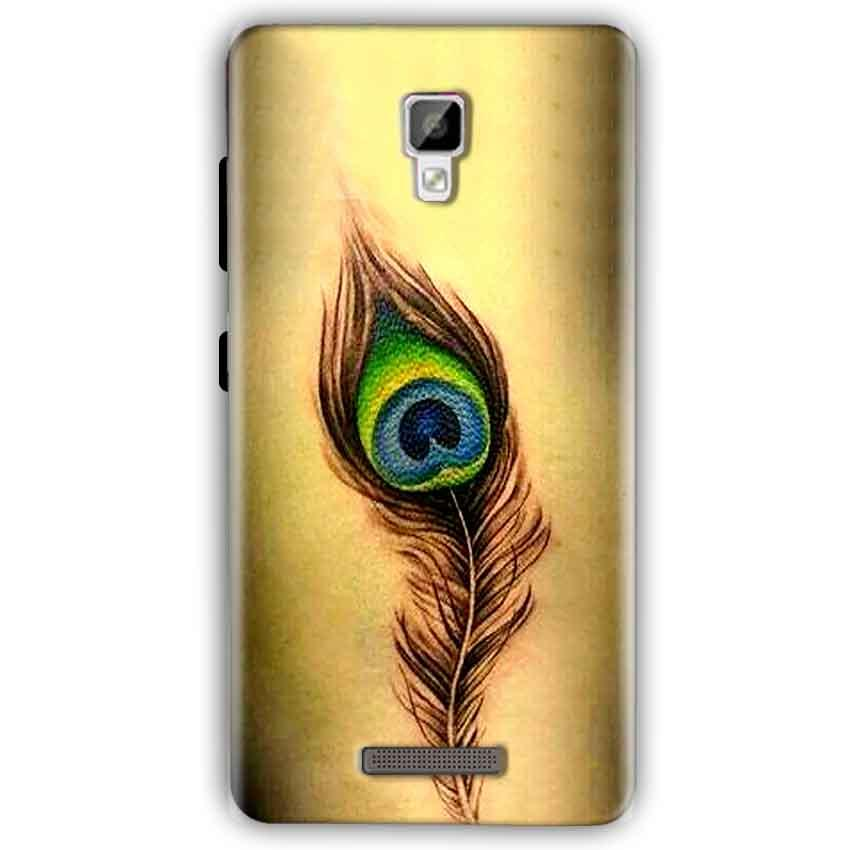 Gionee P7 Mobile Covers Cases Peacock coloured art - Lowest Price - Paybydaddy.com