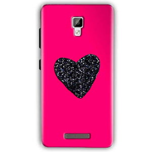 Gionee P7 Mobile Covers Cases Pink Glitter Heart - Lowest Price - Paybydaddy.com