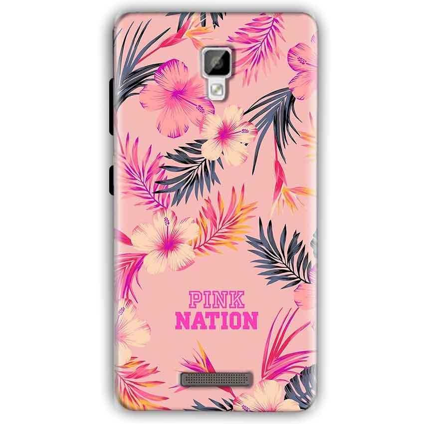 Gionee P7 Mobile Covers Cases Pink nation - Lowest Price - Paybydaddy.com