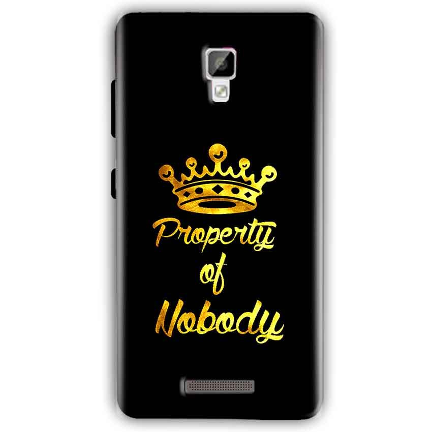 Gionee P7 Mobile Covers Cases Property of nobody with Crown - Lowest Price - Paybydaddy.com