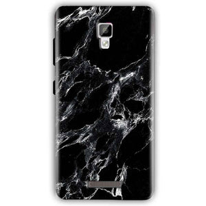 Gionee P7 Mobile Covers Cases Pure Black Marble Texture - Lowest Price - Paybydaddy.com