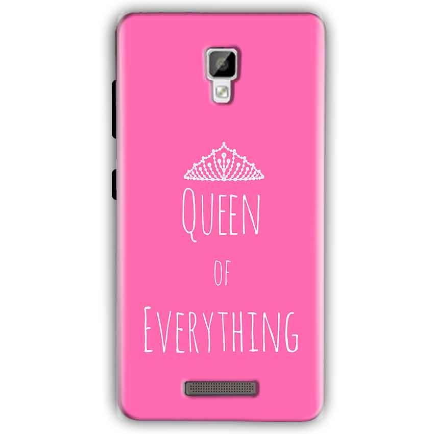 Gionee P7 Mobile Covers Cases Queen Of Everything Pink White - Lowest Price - Paybydaddy.com