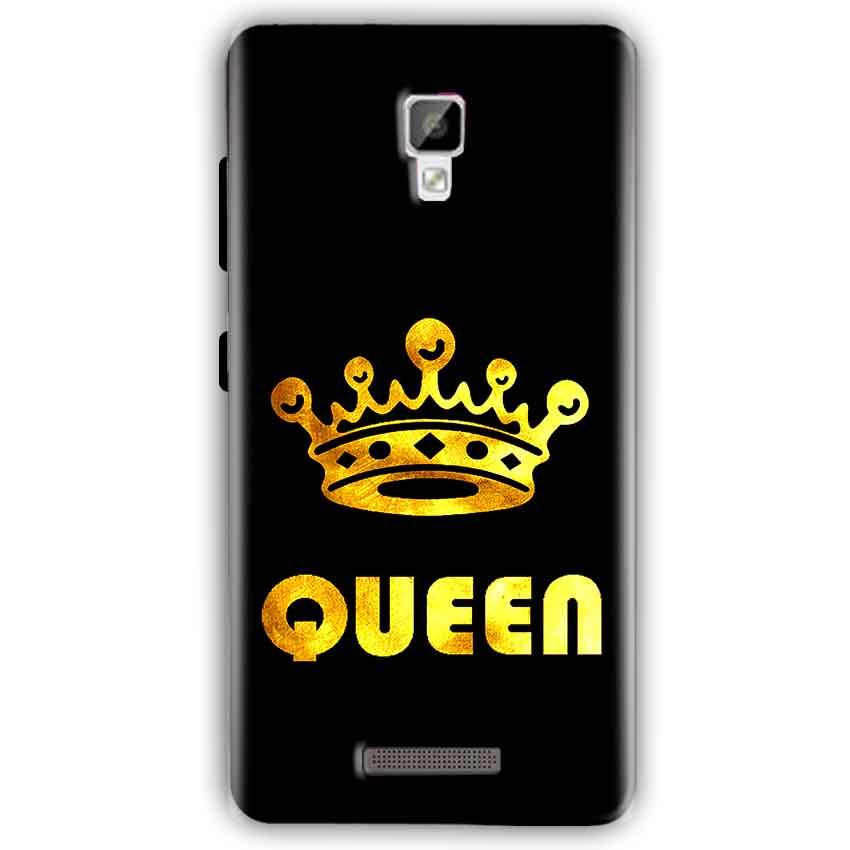 Gionee P7 Mobile Covers Cases Queen With Crown in gold - Lowest Price - Paybydaddy.com
