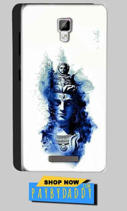 Gionee P7 Mobile Covers Cases Shiva Blue White - Lowest Price - Paybydaddy.com