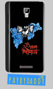 Gionee P7 Mobile Covers Cases om namha shivaye with damru - Lowest Price - Paybydaddy.com