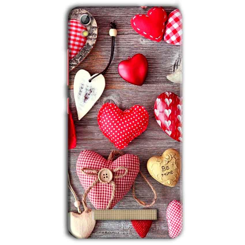 Gionee Pioneer P5L Mobile Covers Cases Hearts- Lowest Price - Paybydaddy.com