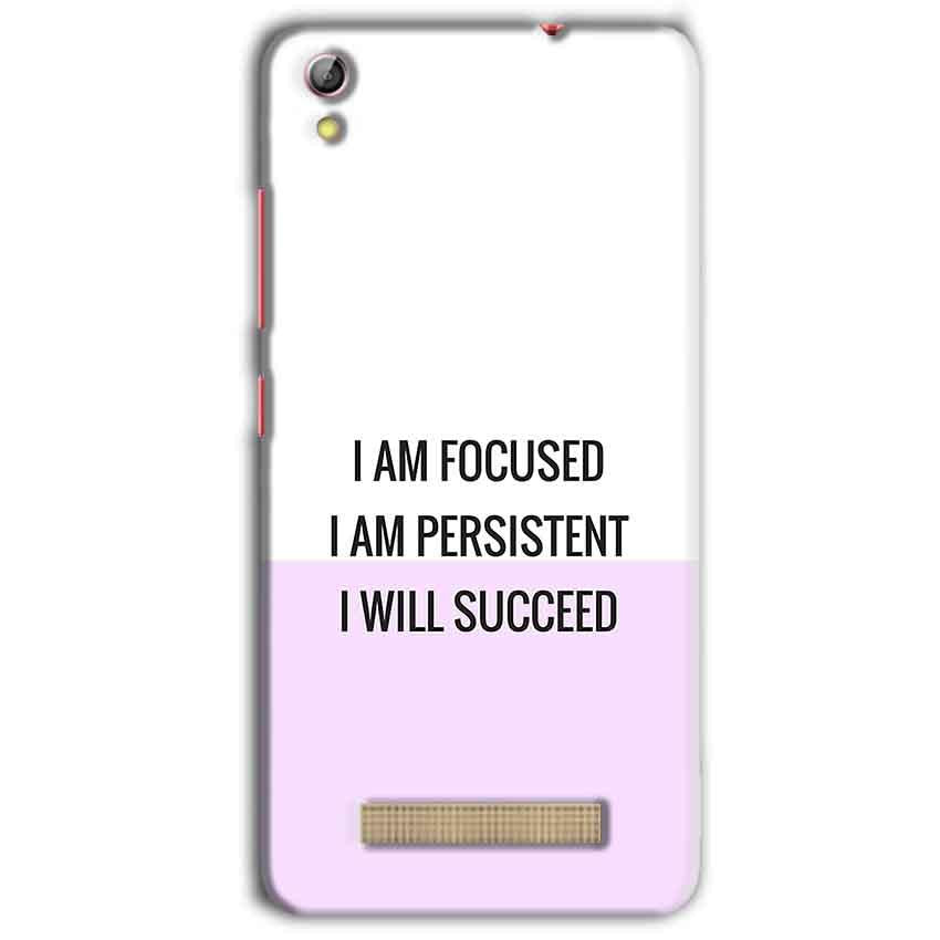 Gionee Pioneer P5L Mobile Covers Cases I am Focused - Lowest Price - Paybydaddy.com